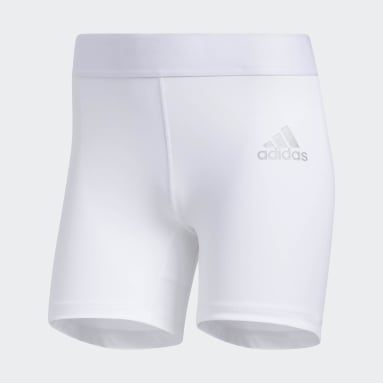 Women Soccer White Alphaskin Sport Short Tights