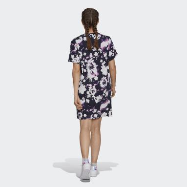 фиолетовый Платье