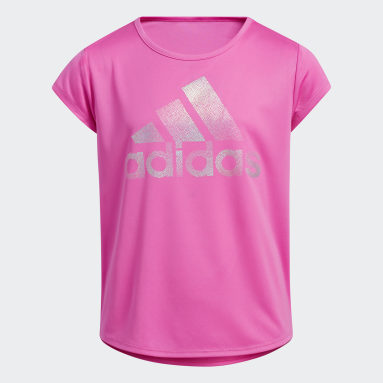 Youth Training Pink Scoop Neck Tee