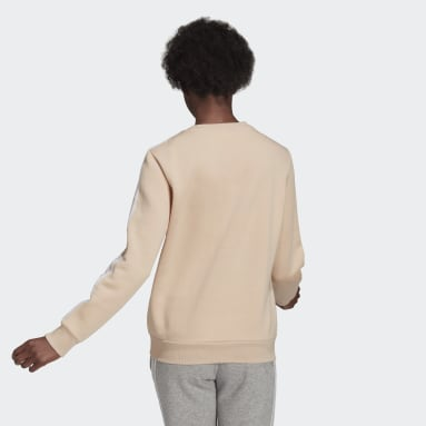 Women's Essentials Pink Essentials 3-Stripes Fleece Sweatshirt