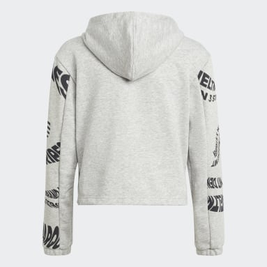 Girls Gym & Training Grey Hooded Track Suit