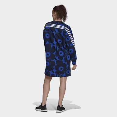 Vestido em Fleece Marimekko adidas Sportswear Azul Mulher Sportswear