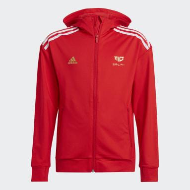 Jungen Fitness & Training Salah AEROREADY Football-Inspired Kapuzenjacke Rot