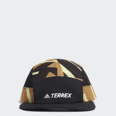 Terrex Primegreen AEROREADY Graphic Five-Panel Caps Brun