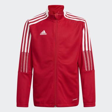 Veste de survêtement Tiro 21 rouge Adolescents Soccer