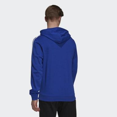 Men's Essentials Blue Essentials 3-Stripes Hoodie