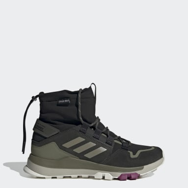 Women TERREX Black Terrex Hikster Mid COLD.RDY Hiking Shoes