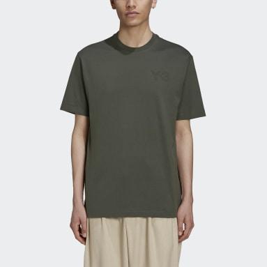Men Y-3 Green Y-3 Classic Chest Logo T-Shirt
