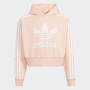 Youth Originals Pink Adicolor Cropped Hoodie