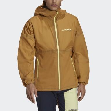 Men TERREX Brown Agravic 3L Jacket