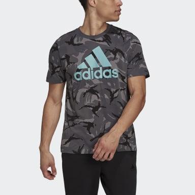 Men Sportswear Grey Essentials Camouflage T-Shirt