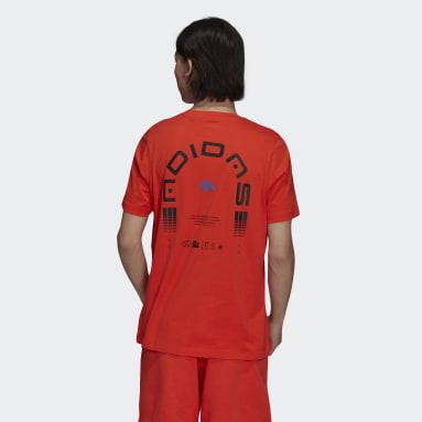 Graphics Symbol Tee Czerwony