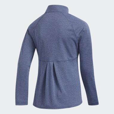 Youth Golf Blue Heathered Knit Jacket
