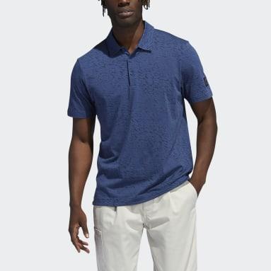 Muži Golf modrá Polokošile Adicross Three Below