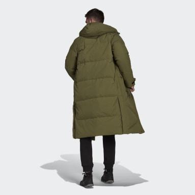 Herr City Outdoor Grön BIG BAFFLE COAT
