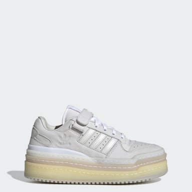 Women Originals White Triple Platforum Low Shoes