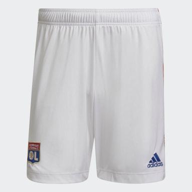 Men Football White Olympique Lyonnais 21/22 Home Shorts