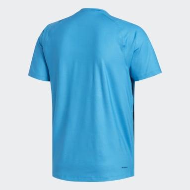 Heren Yoga Blauw FreeLift Primeblue T-shirt