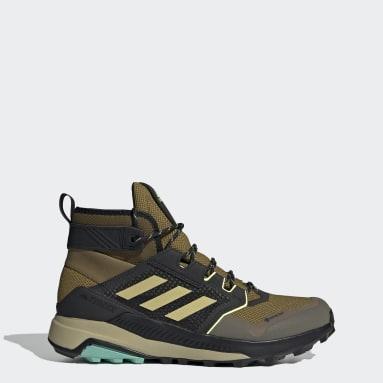 Men TERREX Brown Terrex Trailmaker Mid GTX Hiking Shoes