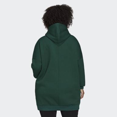 Women's Sportswear Green adidas Sportswear Oversize Fleece Hoodie (Plus Size)
