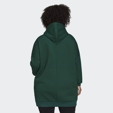 Sudadera con capucha adidas Sportswear Oversize Fleece (Tallas grandes) Verde Mujer Sportswear
