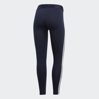 Women Sportswear Blue Essentials 3-Stripes Leggings