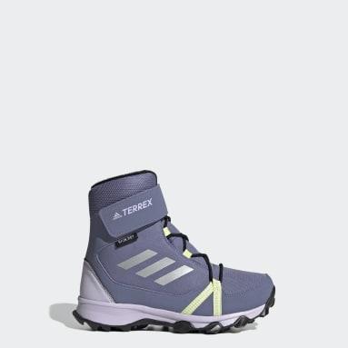 Children TERREX Purple Terrex Snow CF Winter Hiking Shoes