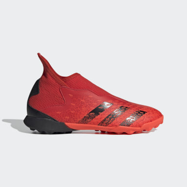 Zapatos de fútbol Predator Freak.3 Sin Cordones Pasto Sintético Rojo Niño Fútbol