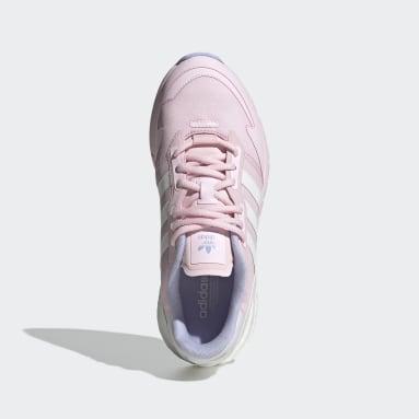 Women Originals Pink ZX 1K Boost Shoes