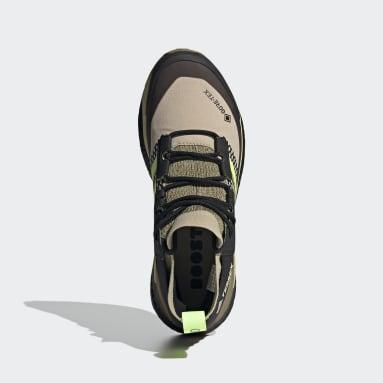 Men's TERREX Beige Terrex Free Hiker Gore-Tex Hiking Shoes