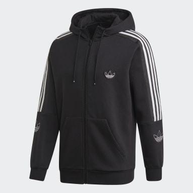 Mænd Originals Sort Outline hoodie