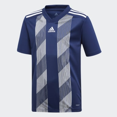 Youth 8-16 Years Gym & Training Blue Striped 19 Jersey