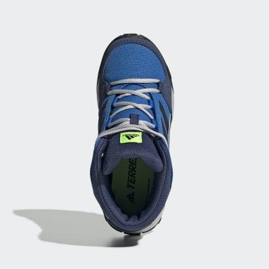 Children TERREX Blue Terrex Hyperhiker Hiking Shoes