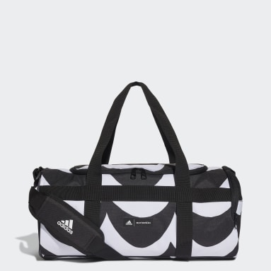 Women Training White Small Duffel Bag with Marimekko Laine Allover Print