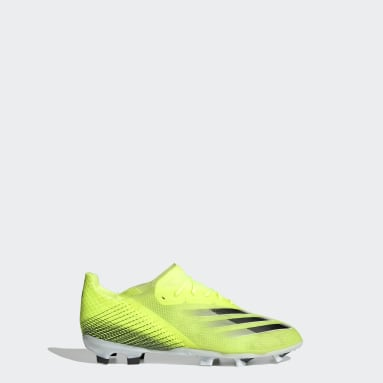 Kids Football Yellow X Ghosted.1 Firm Ground Boots