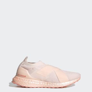 Women Running Pink Ultraboost Slip-On DNA Shoes