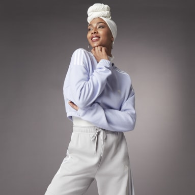 CROP CREW W Roxo Mulher Sportswear