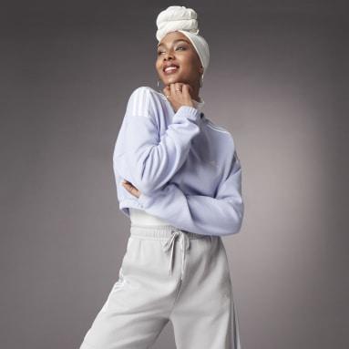 Sudadera cuello redondo Hyperglam Crop Violeta Mujer Sportswear