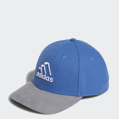 Men Golf Blue 3-Stripes Club Cap