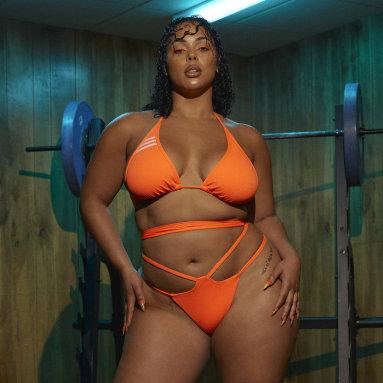 Frauen Originals Wrap Bikinioberteil – Große Größen Orange