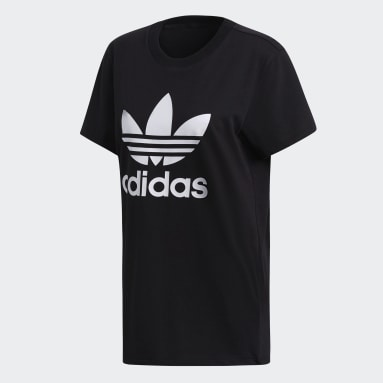 Women Originals Black Boyfriend Trefoil T-Shirt
