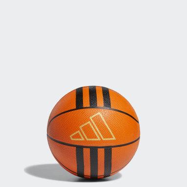 Minibalón de baloncesto Rubber 3 bandas Naranja Baloncesto