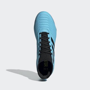 Calzado de Fútbol Predator 19.3 Terreno Firme Turquesa Hombre Fútbol