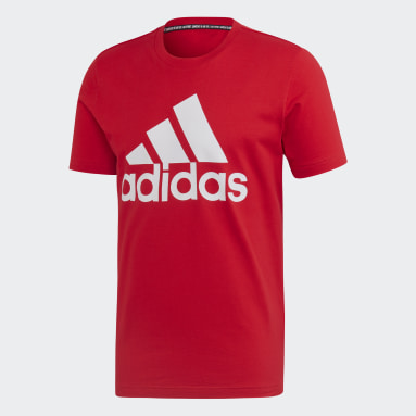 T-shirt Must Haves Badge of Sport Rosso Uomo Sportswear