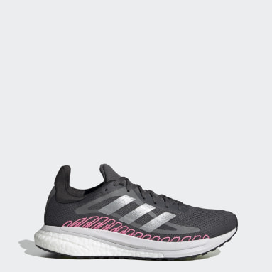 Zapatilla SolarGlide ST Gris Mujer Running