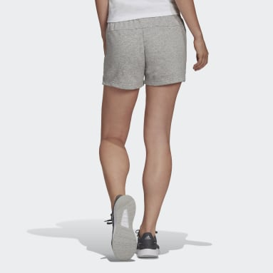 Essentials Slim Logo Shorts Szary