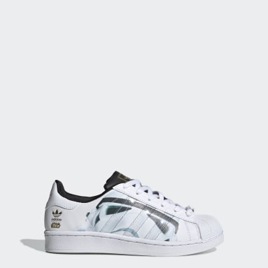 Youth 8-16 Years Originals White Superstar Star Wars Stormtrooper Shoes