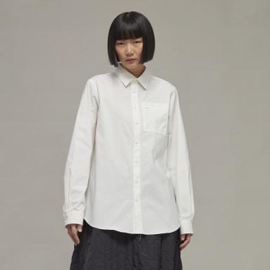 Y-3 Classic Chest Logo Button-Down Shirt Bianco Donna Y-3