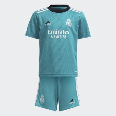 Kinder Fußball Real Madrid 21/22 Mini-Ausweichausrüstung Türkis