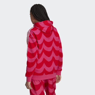Sweat-shirt à capuche Marimekko Rouge Femmes Originals
